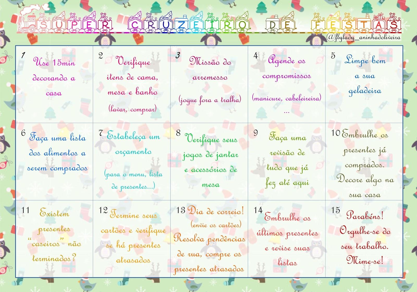 Calendario Flylady.Calendario Com Todas As Missoes Do Super Cruzeiro Casa Fly