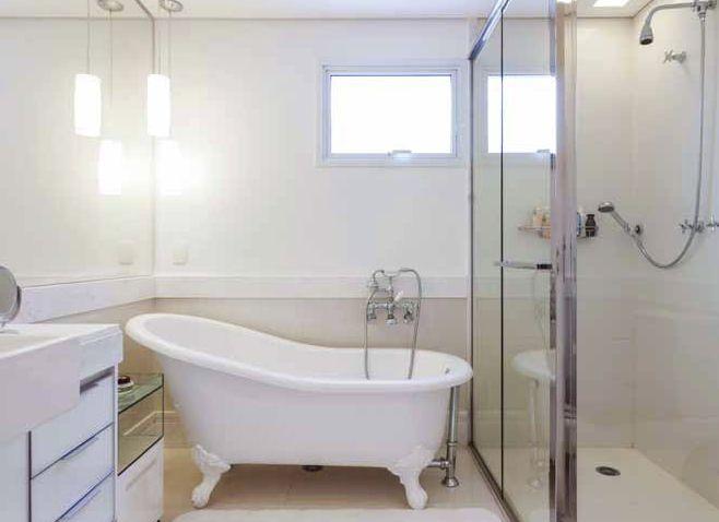 BANHEIROS COM BANHEIRA – FOTOS, MEDIDAS E DICAS PARA INSTALAR SUA BANHEIRA   -> Banheiro Com Banheira Individual