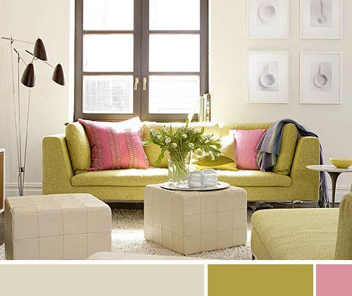 La regla 60 30 10 - Sofa color arena ...