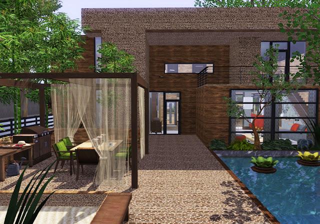 maison design en pierre sims 3