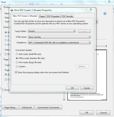 Topaix how to reduce pdf file size click on properties and office ready medium files size under conversion quality and then press ok ccuart Images