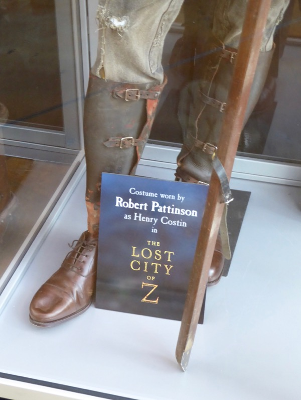 Lost City of Z Henry Costin costume boots