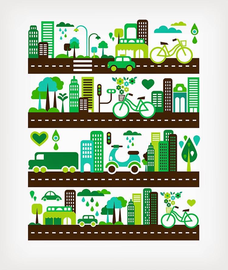 Desain Spanduk: 5 Contoh Poster Go Green Berbentuk Vector