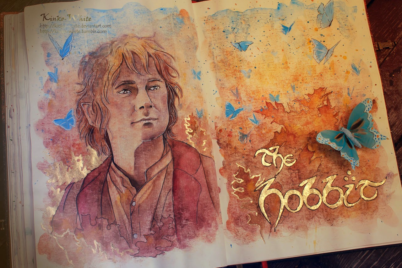 06-The-Hobbit-Kinko-White-The-Hobbit-Watercolors-www-designstack-co