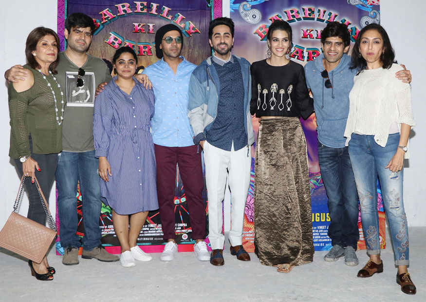 Kriti Sanon and Ayushmann Khurrana During Kriti's Birthday Celebration at Mehboob Studio