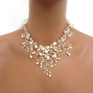 Freshwater and Crystals Pearls Chain Necklace Jewelry