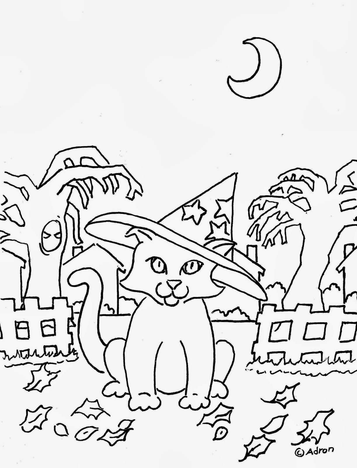 Free Printable Halloween Coloring Pages high resolution