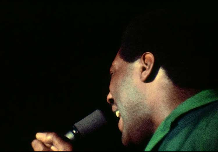 Otis Redding plays the Monterey Pop festival in 1967.