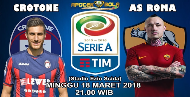 Prediksi Crotone vs Roma 18 Maret 2018