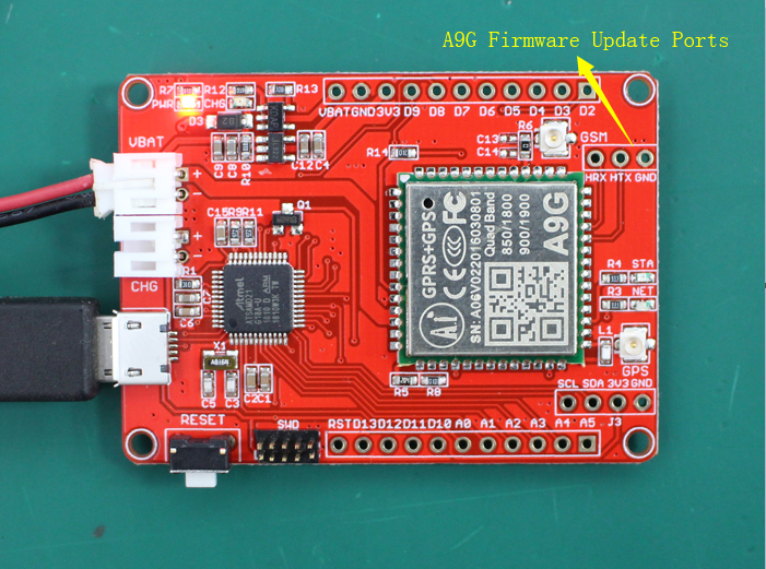 A9G firmware update ports | Details | Hackaday io