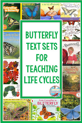 Text sets are a great way to work in literacy skills with science content. Check out this blog post for tips for teaching Life Cycles.