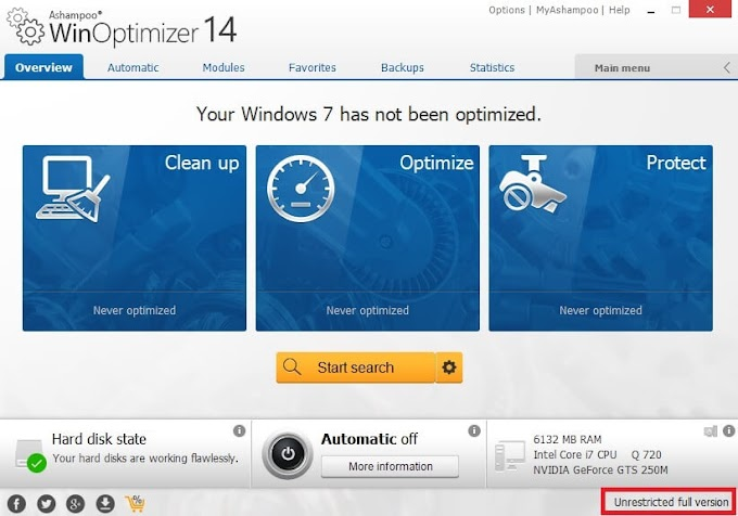 Ashampoo WinOptimizer 14 Full Key