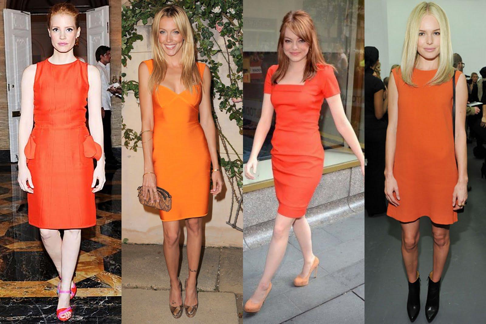 frills and thrills the orange dress trend. Black Bedroom Furniture Sets. Home Design Ideas
