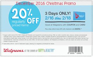 Walgreens coupons december 2016