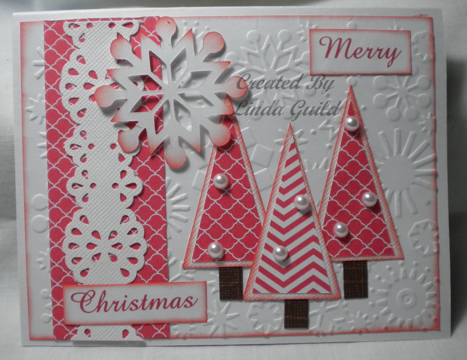 this is the project that i took to stamp club last night i have to take pre cut card kits to work on or i dont get a single thing done - Fancy Christmas Cards
