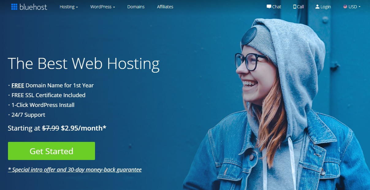 Bluehost hosting service recommended by WordPress officially.