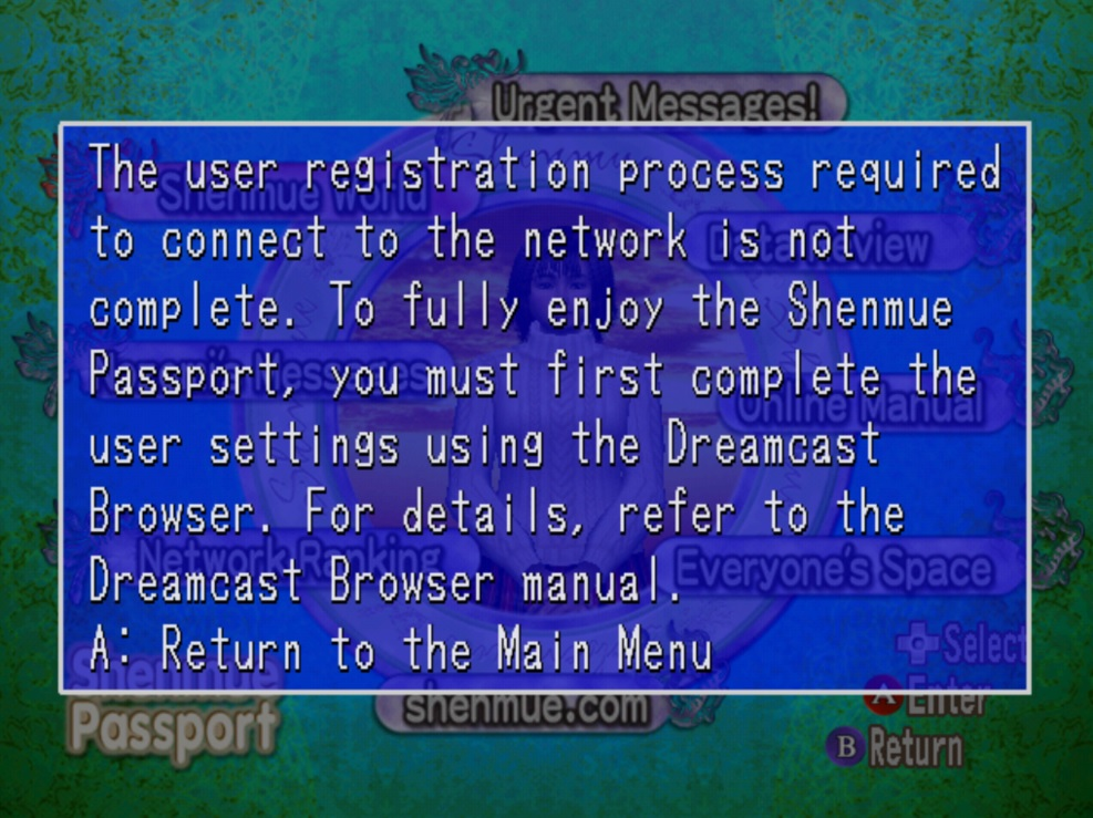 Shenmue Passport Unlocked! | Hack to Skip Dial-up Check