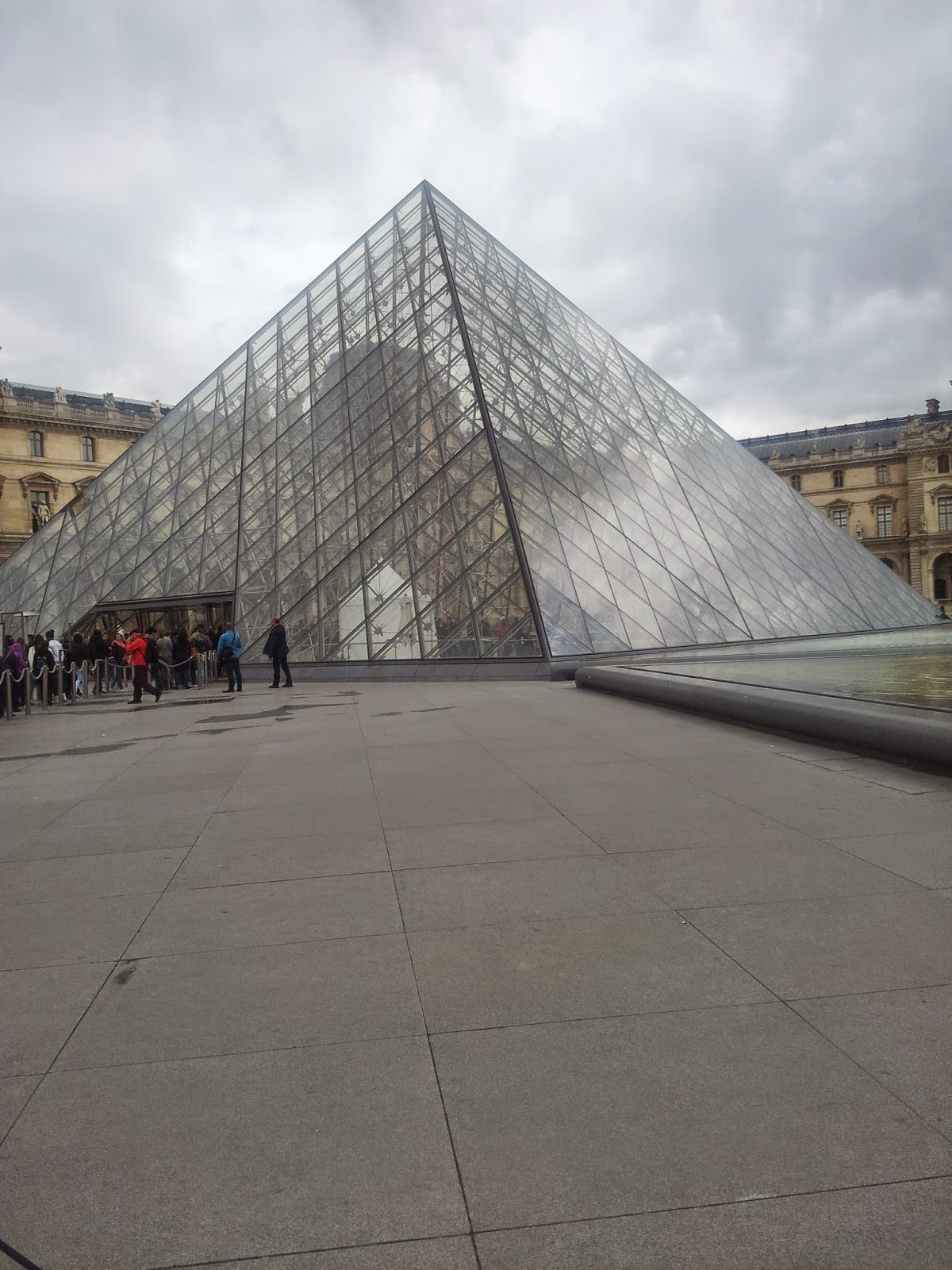The glass at The Louvre, Paris