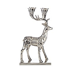 Silver stag candelabra