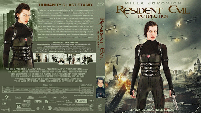 Resident Evil Retribution Bluray Cover