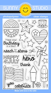 Sunny Studio Stamps: Stars & Stripes Patriotic 4th of July stamp set