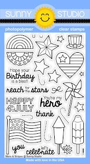Sunny Studio Stamps: Stars & Stripes Patriotic 4th of July stamp set