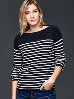 Nautical Stripe Rib Sweater $16 (reg $60)