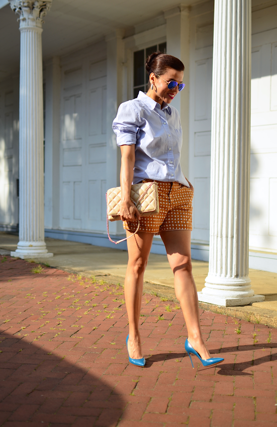 How to style shorts with heels