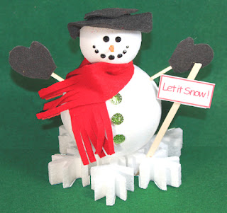 snowman crafts challenge just a thought or two designer craft connection 2962
