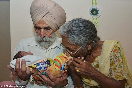 indian woman gives birth age 70