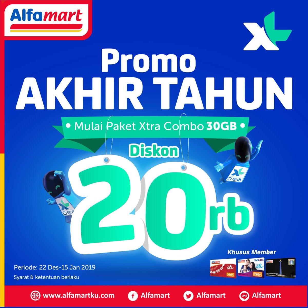 #Alfamart - Promo Akhir Tahun Paket XL Xtra Combo Diskon s.d 20K (s.d 15 Jan 2019)