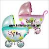Balon Foil Baby Stroller Baby Boy & Baby Girl (Ukuran Besar)