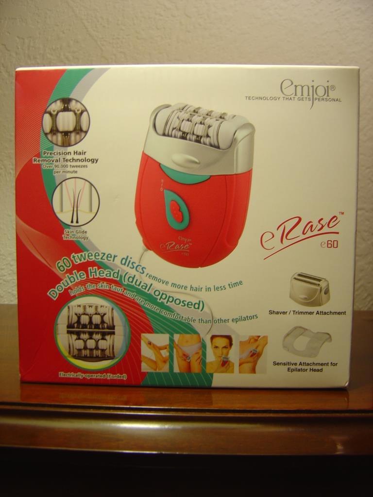 Emjoi eRase e60 Epiliator box.