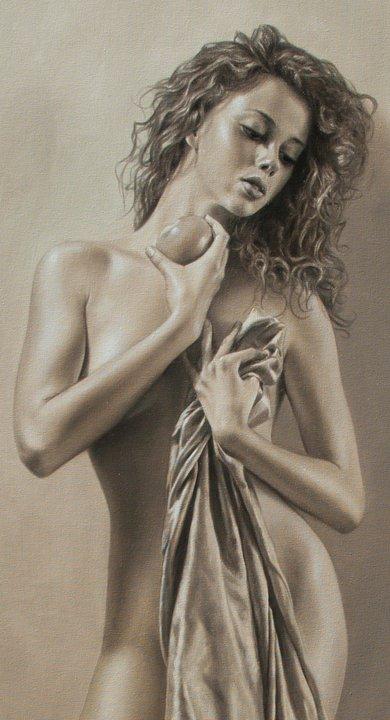 Mulheres sensuais nas pinturas de Sergio Martinez Cifuentes
