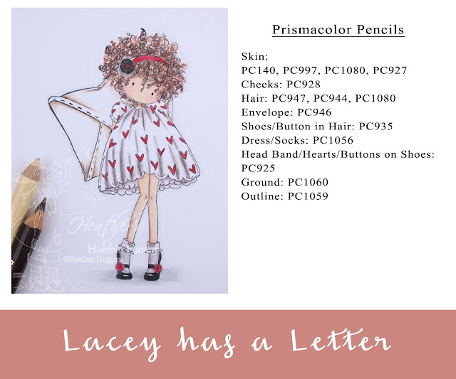 Heather's Hobbie Haven - Colored Pencil Tuesday - Lacey has a Letter