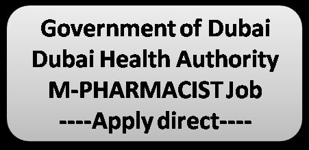 pharmjobs org: UAE Government M Pharmacist Vacancy Dubai