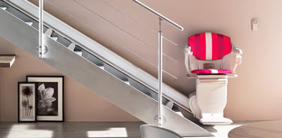 soin fauteuil monte escalier