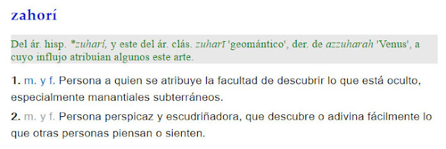 Zahorí - definición
