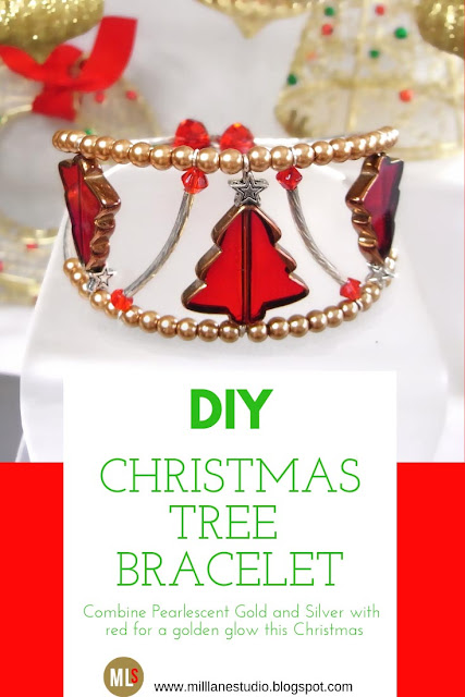 Glowing Christmas Tree bracelet Inspiration Sheet