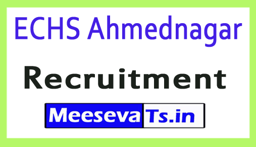ECHS Ahmednagar Recruitment
