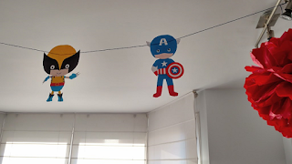 guirnalda superhéroes