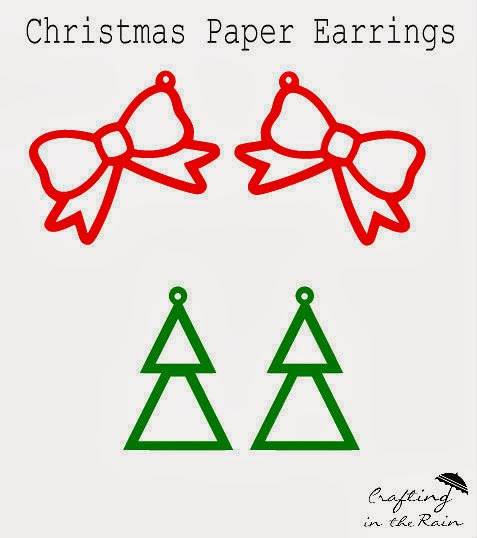 Christmas Paper Earring Designs | Crafting in the Rain
