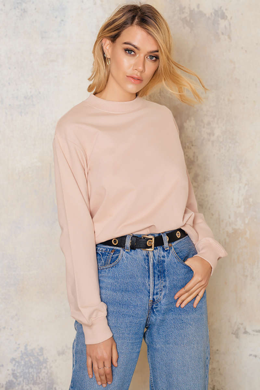NA-KD, fashion, online store, dusty pink, basic, sweater, sweatshirt