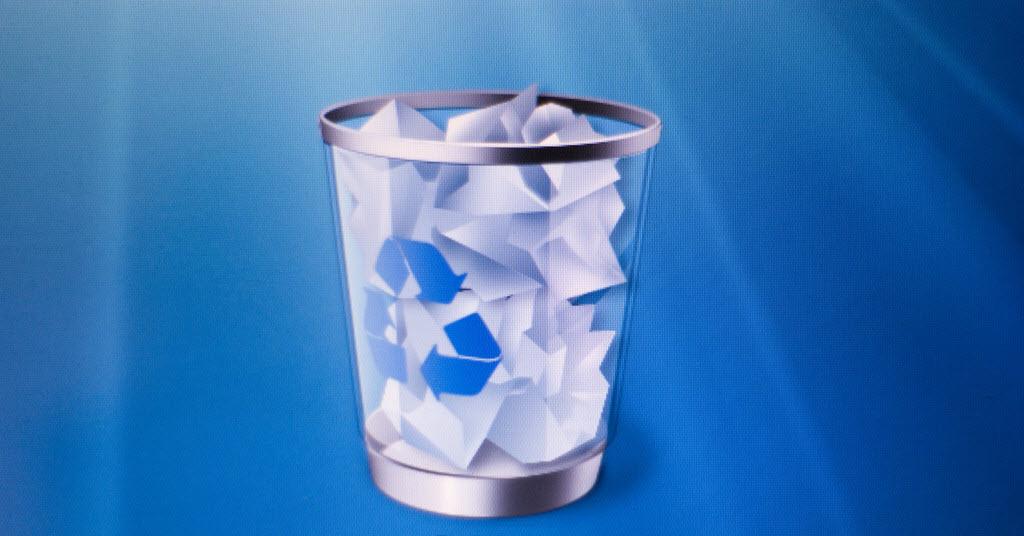 Mengembalikan file terhapus di recycle bin