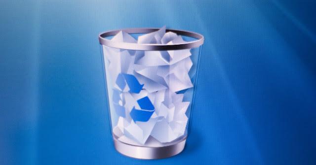 Mengembalikan file yang terhapus di recycle bin