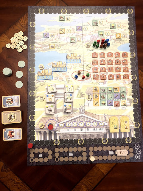 Benjamin Kocher's review of Trajan the Board Game, Renegade Game Studios, Photo by Benjamin Kocher