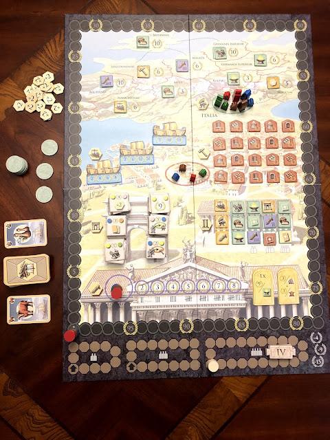 Benjamin Kocher's review of Trajan the Board Game, Renegade Game Studios, Photo by Benjamin Kocher
