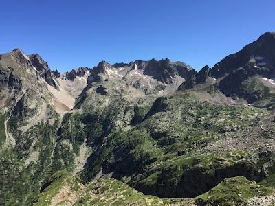 View toward French border, Rifugio Questa visible