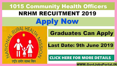 NRHM Vacancy 2019