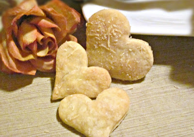 Heart Shaped Parmesan Crackers
